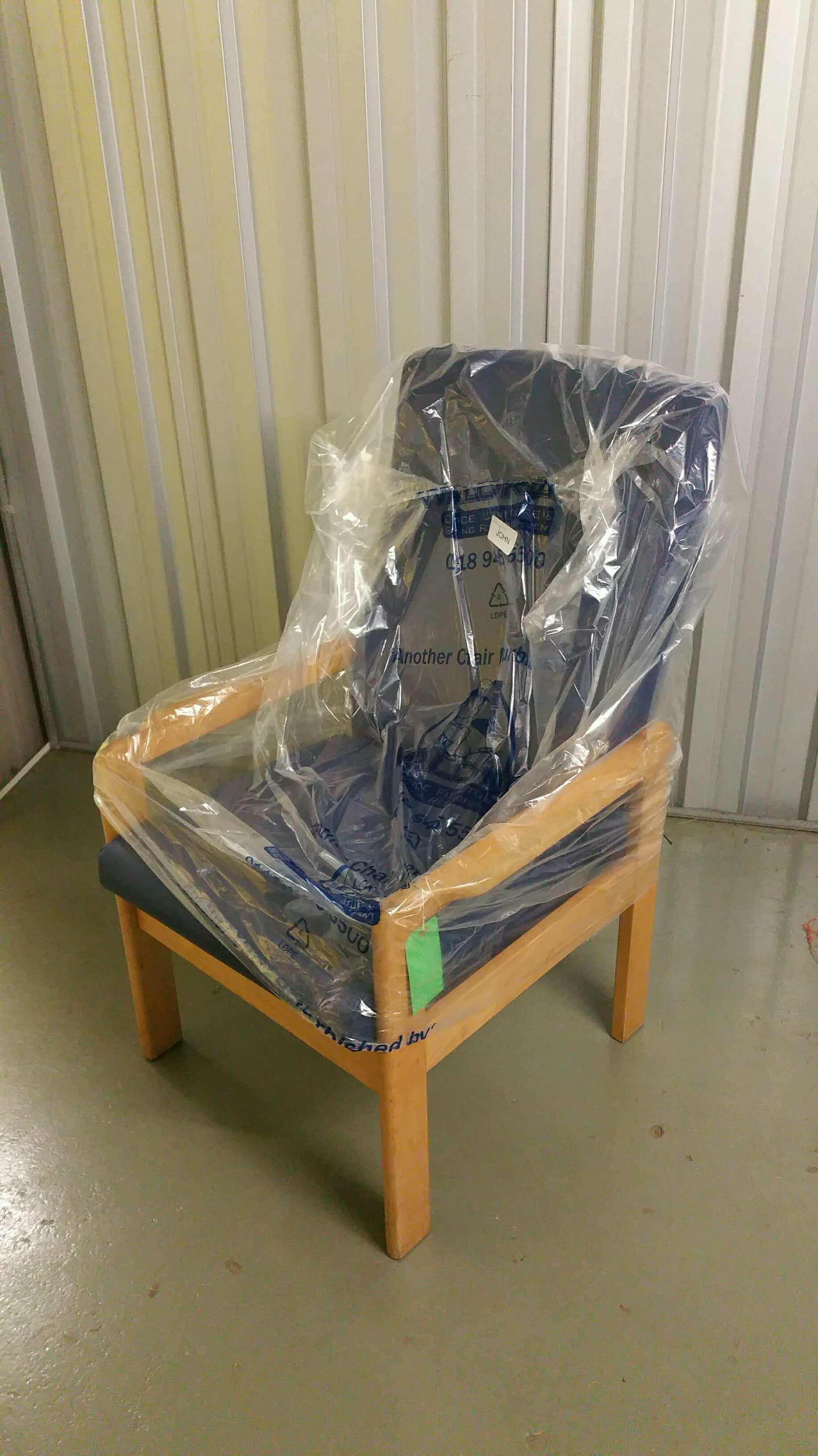 High Back Patient Chair Blue Vinyl x27