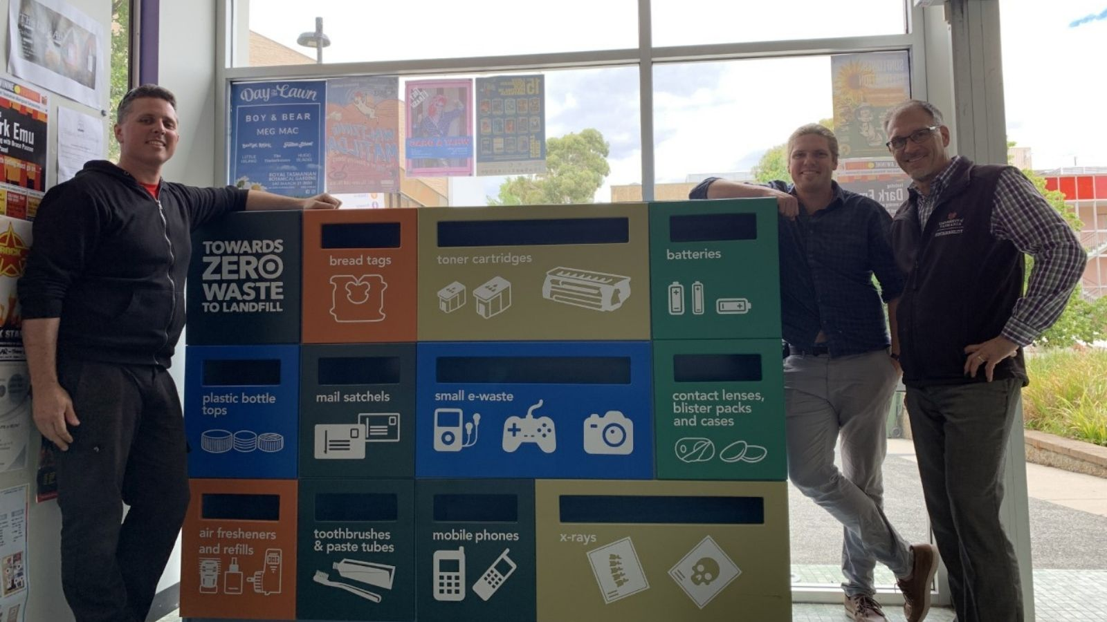 Recycling Wall - Will Plaister Jasper McCormack Corey Peterson