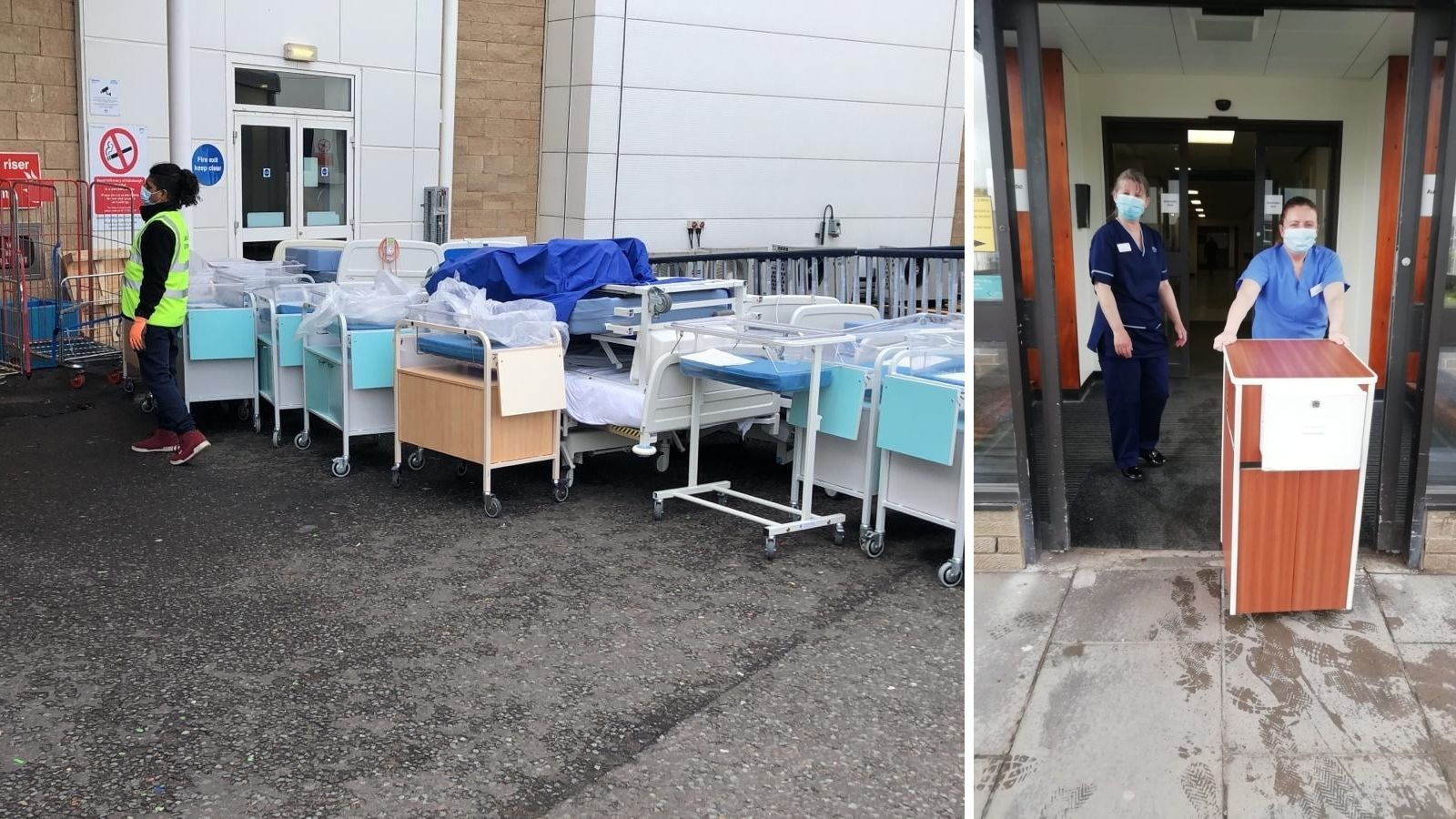 Reused beds, cots and bedside tables are the right medicine for rural hospitals abroad