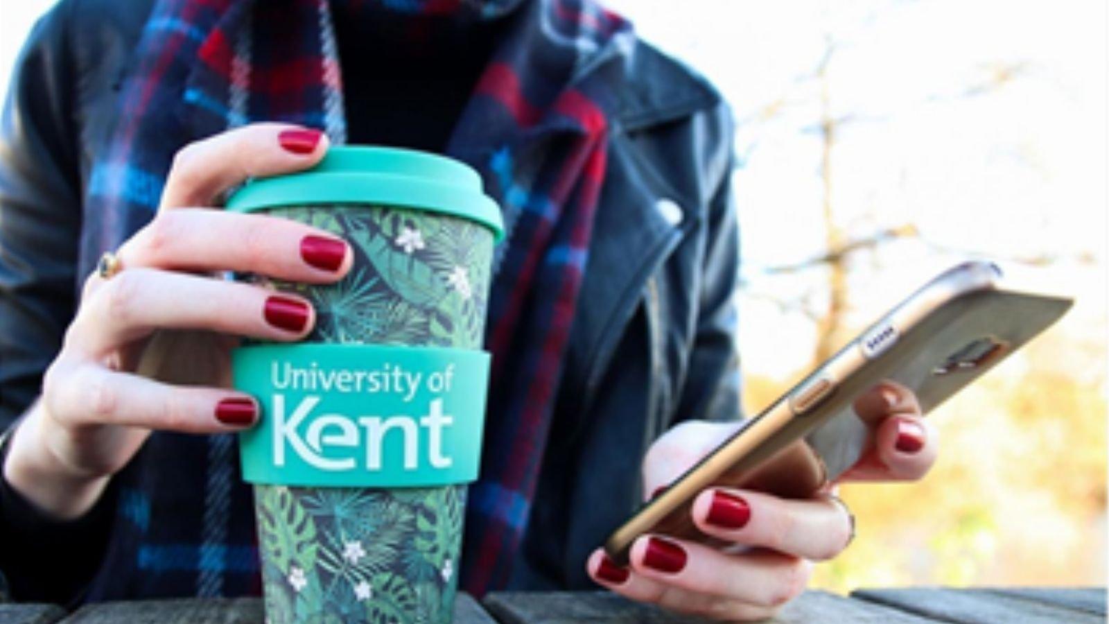 University of Kent reusable cup