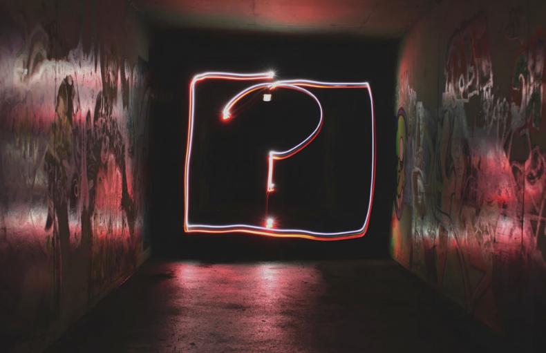 question mark neon ment
